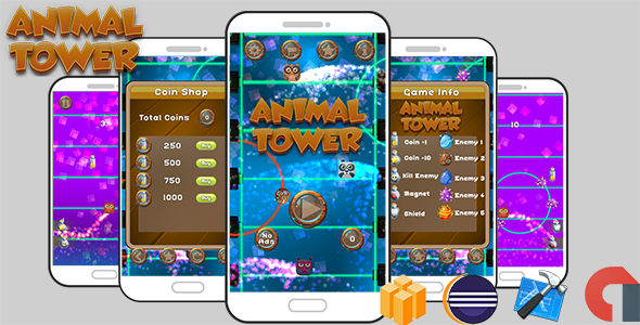 Animal Tower Game Template Android & iOS With Admob ( Eclipse + Xcode + Buildbox ) - CodeCanyon Item for Sale