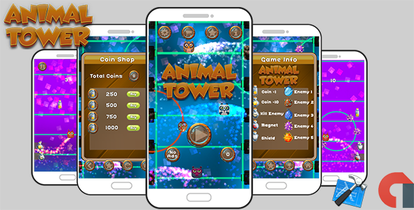Animal Tower Game Template iOS With Admob ( Xcode Project ) - CodeCanyon Item for Sale