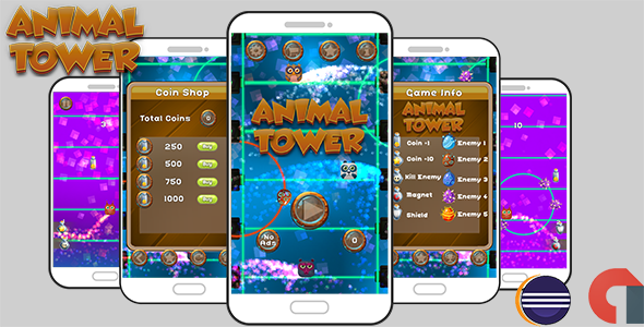Animal Tower Game Template Android With Admob ( Eclipse Project ) - CodeCanyon Item for Sale