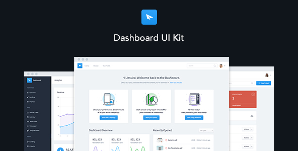 Dashboard UI Kit | Admin Dashboard Template & UI Framework - Admin Templates Site Templates