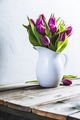 A bouquet of purple tulips in a vase - PhotoDune Item for Sale