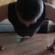 Sporty Man Doing Push-up Exercise at Home - VideoHive Item for Sale