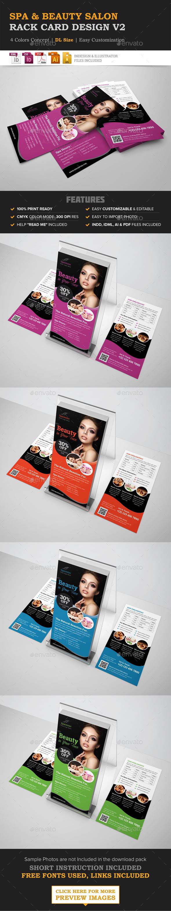 Spa Beauty Salon Rack Card DL Flyer Design - Corporate Flyers