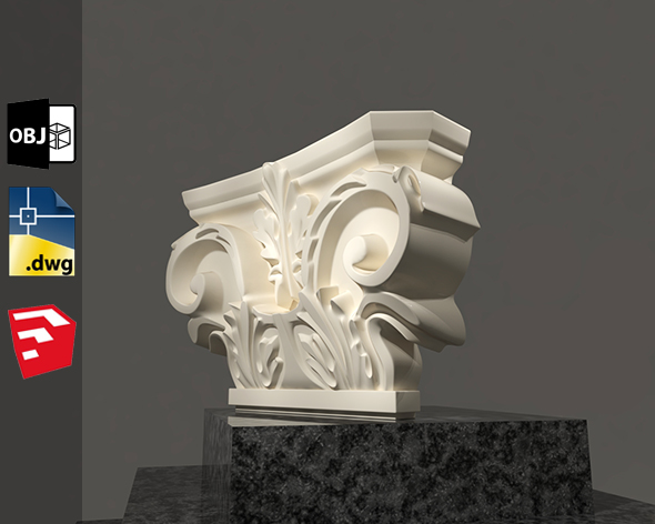 Grecian Classic 3D Model For Sketchup Pack 1 - 3DOcean Item for Sale