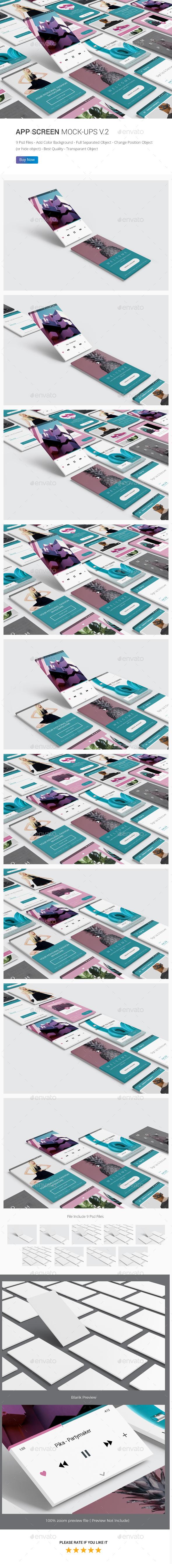 iPhone Screen / UI / App Screen Mockup V.2 - Mobile Displays