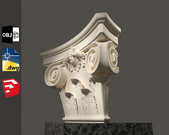 Grecian Classic 3D Model For Sketchup Pack 3 - 3DOcean Item for Sale