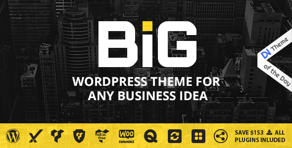 B.I.G - WordPress Theme for Any Business Idea - Business Corporate