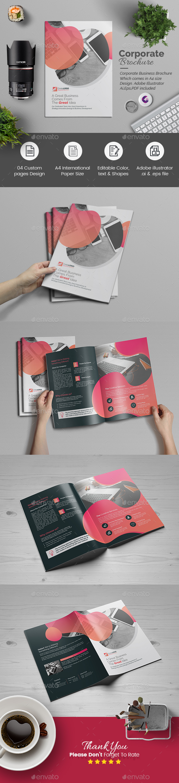 Multipurpose Bi-Fold Brochure - Corporate Brochures