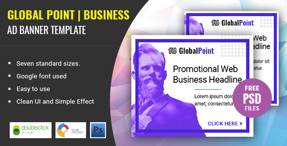 Global Point | Business HTML 5 Animated Google Banner - CodeCanyon Item for Sale