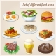 Set of Different Food Icons. - GraphicRiver Item for Sale