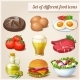 Set of Different Food Icons - GraphicRiver Item for Sale