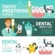 Set of Horizontal Web Banners with Such Dental