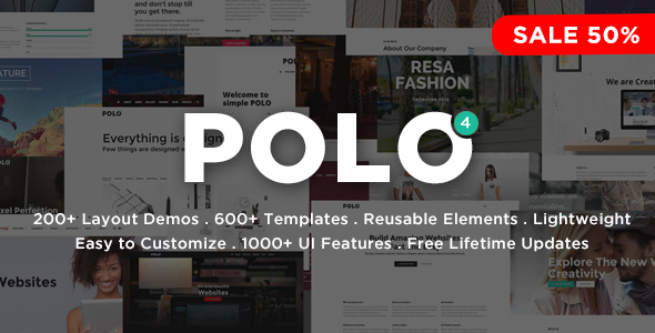 Polo - Responsive Multi-Purpose HTML5 Template Screenshot