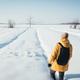 Alone traveler in yellow jacket - PhotoDune Item for Sale