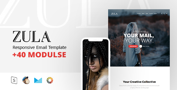 ZULA - Responsive Email Template Minimal - Email Templates Marketing