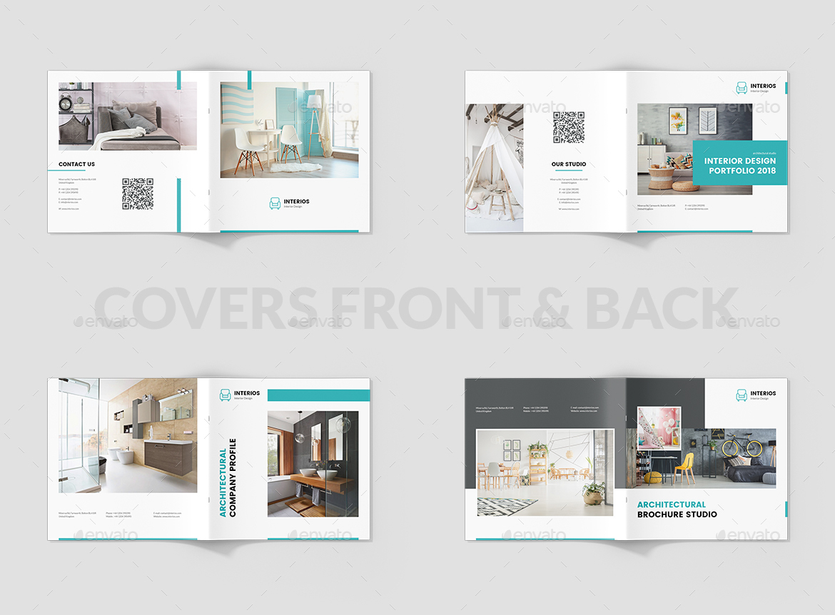 interios interior design brochures bundle print templates 3 in 1