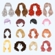 Female Hairstyles Front Side Portrait - GraphicRiver Item for Sale