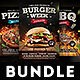 Burger Steak Pizza Flyer Bundle - GraphicRiver Item for Sale