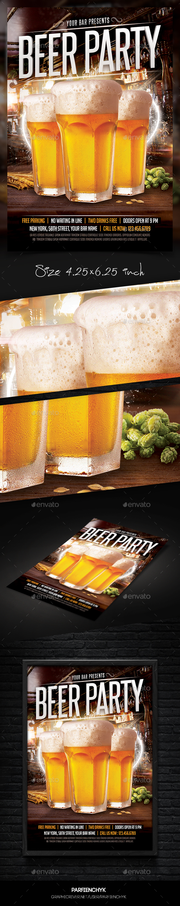 Beer Party Flyer Template - Events Flyers