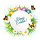 Holiday Gift Card With Easter Eggs and Daisies - GraphicRiver Item for Sale