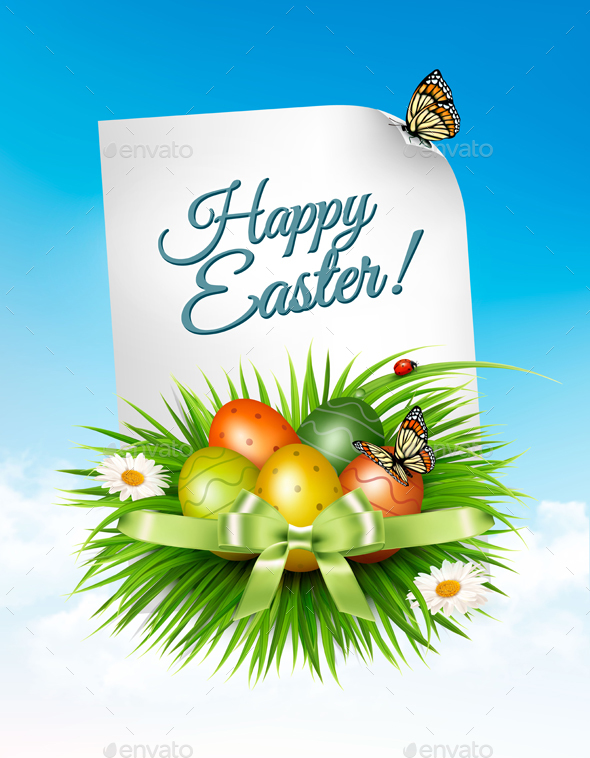 Spring Easter Background - Miscellaneous Seasons/Holidays