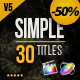 Gold Simple Titles for Final Cut Pro X - VideoHive Item for Sale