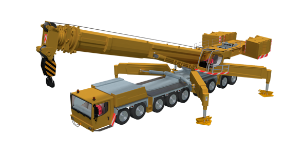 Mobile Crane - 3DOcean Item for Sale