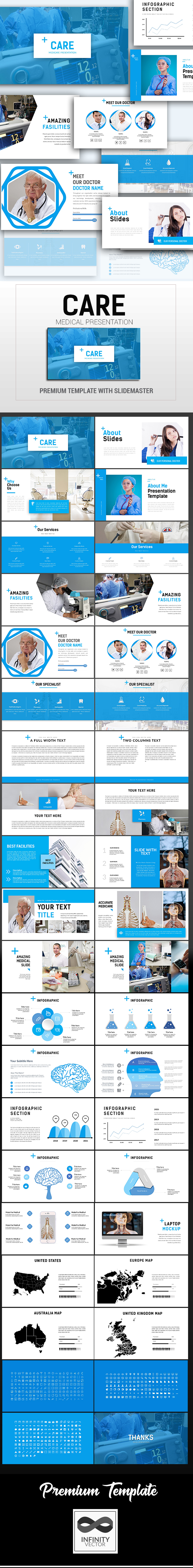 Care Medical Presentation Google Slide - Google Slides Presentation Templates