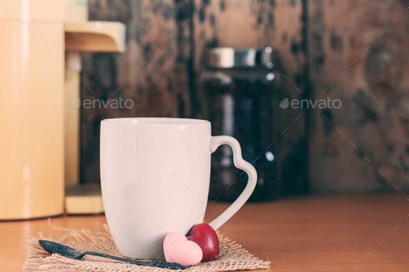 cup with the water heater - Stock Photo - Images
