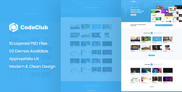 CodeClub - Digital Product Showcase PSD Template