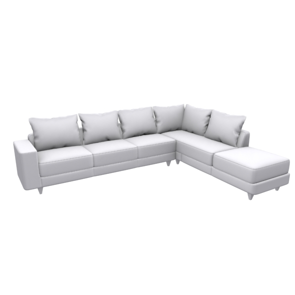 L shape Sofa set - 3DOcean Item for Sale