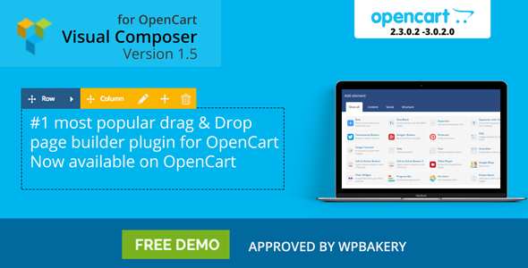 OpenCart Drag & Drop Page Builder : Visual Composer for OpenCart 3.0.0.x & OpenCart  2.3.0.x - CodeCanyon Item for Sale