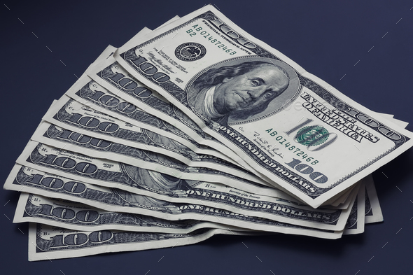 stack of dollars - Stock Photo - Images