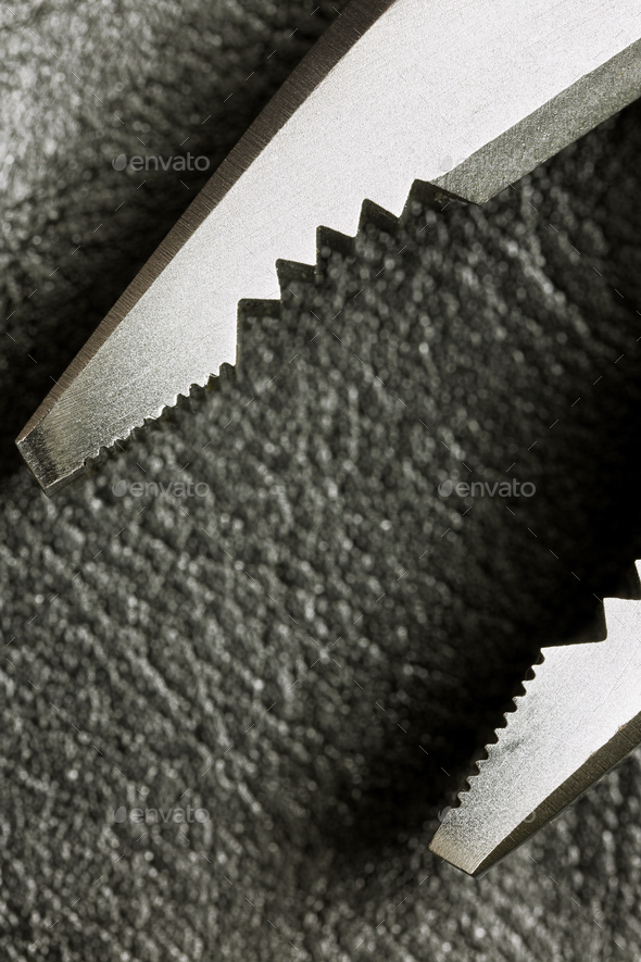 Close up Hand Work Tool Pliers - Stock Photo - Images