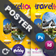 Travel Tours Poster Templates - GraphicRiver Item for Sale