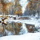 Winter landscape by a river - PhotoDune Item for Sale
