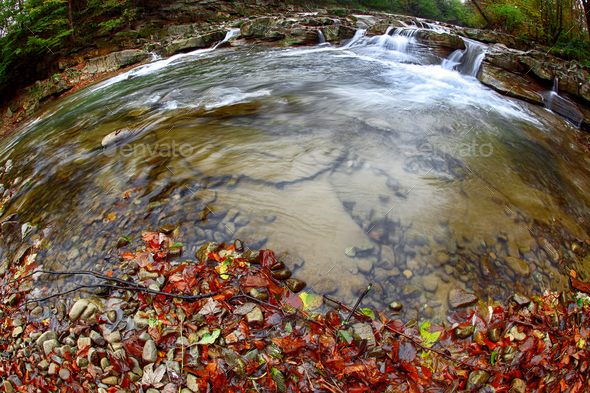 mountain river at autumn time. - Stock Photo - Images