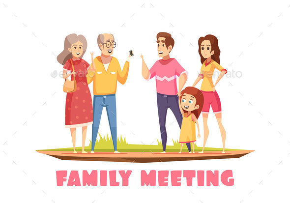 Family Meeting Composition - People Characters