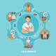 Veterinary Care Flat Poster