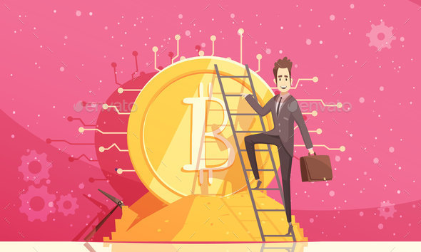 Bitcoin Vector Illustration - Concepts Business