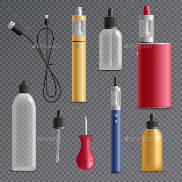 Electronic Cigarette Elements Collection - Man-made Objects Objects