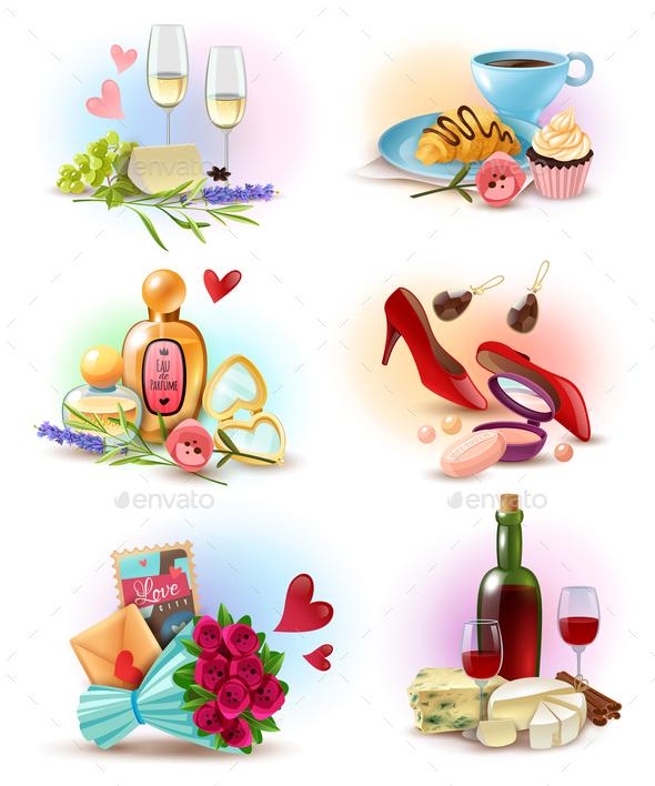 France Paris Compositions Set - Food Objects