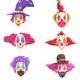 Clowns Masks Set