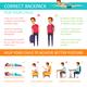 Proper Posture Children Infographics