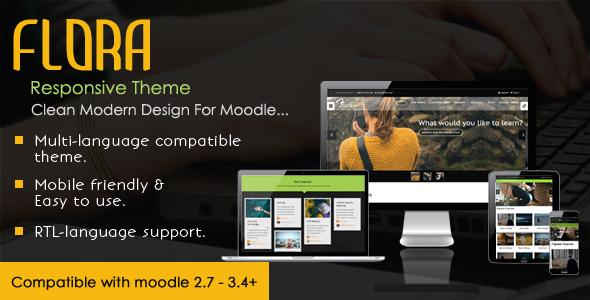 Flora - Responsive Moodle Theme - Moodle CMS Themes