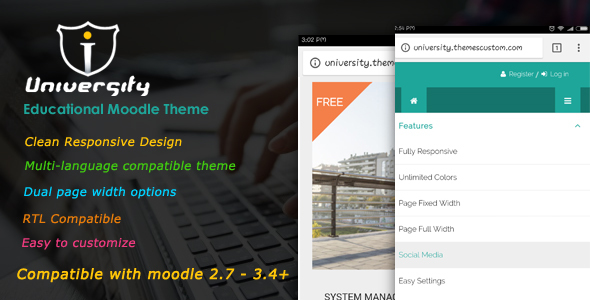 Image of University - Responsive Moodle Theme
