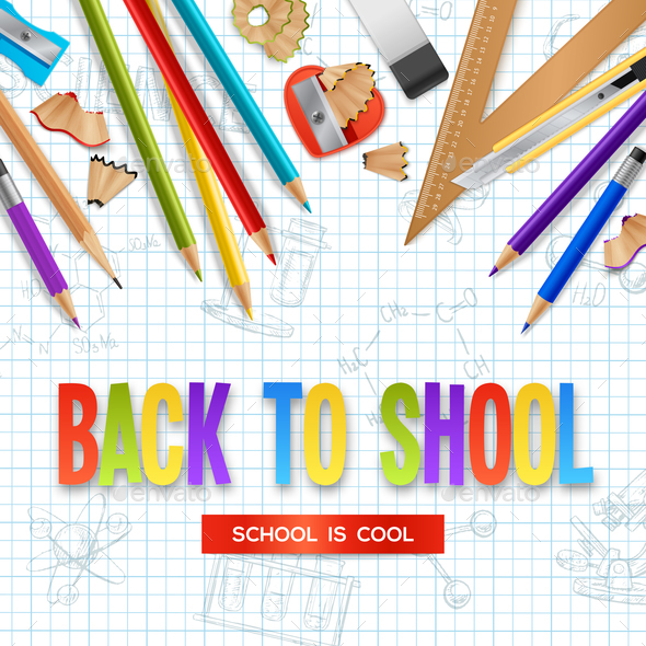 Back To School Design Concept - Backgrounds Decorative