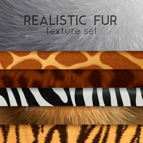Fur Texture Horizontal Elements - Miscellaneous Vectors