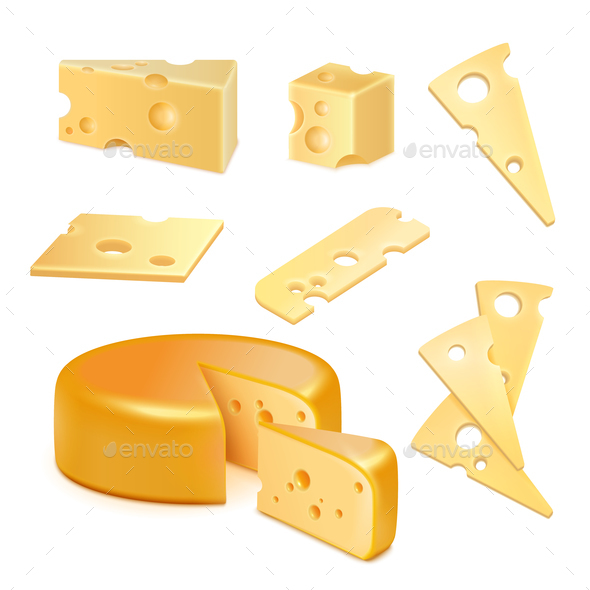 Cheese Realistic Set - Food Objects