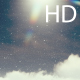 Cumulus Clouds and Sun on the Snowy Sky - VideoHive Item for Sale